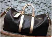 Wholesale Luggage Locks - 54CM new fashion men women travel bag duffle bag, brand designer luggage handbags large capacity sport bag with lock