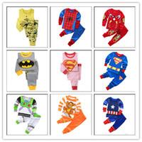 Wholesale Pijama Baby Boy - 2017 Batman Spiderman Kids Pajamas Cotton Baby Boy Pyjamas Set Superman Pyjama Bebe Long Sleeve Pijama Infant Girls Clothes