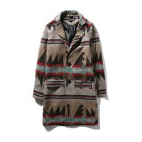 Wholesale Printed Trench Coats - Wholesale- Mens Overcoat Long Trench Coat Men 2016 Autumn Winter M-5XL Wool Men Trench Coat Long TY87