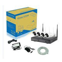 Wholesale Wholesale Cctv Kits - Best quality 12V rmon 2.4 ghz 4ch wifi surveillance p2p ip ccd camera kits with cctv wireless nvr kit
