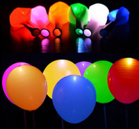 Wholesale Helium Light Balloons - LED Balloon Light ball 12 Inches Latex Multicolor Helium Balloons Christmas Hollween Decor Wedding Party ballon led ball. GB003