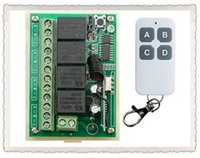 Wholesale 4ch Remote Control Transmitter - Wholesale- JRLKEJEE NEW DC12V 4CH 4Channe 10A RF wireless remote control switch System, 1X Transmitter + 1 X Receiver,315 433 MHZ