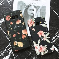 Wholesale Galaxy Phone Plastic Cases - fashion flower case for samsung S8 Ultrathin petal Plastic Hard Cases for Samsung galaxy s8 plus s7 Phone Cover