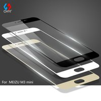 Wholesale Oleophobic Screen Coating - Wholesale-9H Tempered Glass For MEIZU M3 mini 5.0inch Meilan3 Full cover Screen Protector CHYI Brand oleophobic coating Protective Film