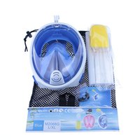 Wholesale Adult Diving Mask - Best price easy breath training mask 180 degree full face scube snorkel silicone diving mask for adults