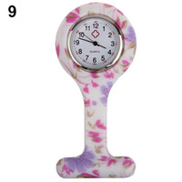 Wholesale Pocket Dial - Wholesale-New Fashion Patterned Silicone Nurses Brooch Tunic Fob Pocket Watch Stainless Dial N76Y