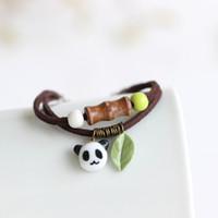 Wholesale panda bracelet for sale - Group buy New Arrival Handmade Unique Panda Ceramic Bracelets Bangles Fashion Strand Elegant Jewelry For Women