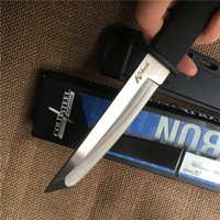 Wholesale Good Fixed Blade Knife - Good Cold Steel KOBUN Tanto Point Fixed Blade Hunting Knife Stainless Steel Blade Camping Survival Tactical Knives With ABS K Sheath