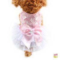 Wholesale Princess Wedding Decorations - armipet Cute Fluffy Ribbon Butterfly Decoration Gauze Dog Dresses Dogs Princess Dress 6071067 Pet Summer Clothes