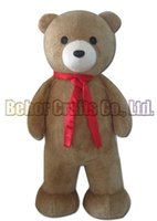 Wholesale mascot costume plush - Gift bear mascot costume EMS free shipping, cheap high quality carnival party Fancy plush walking Gift bear mascot adult size.