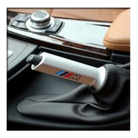 Wholesale Aluminium Alloy M Logo Handbrake Cover Modified Hand Brake Grip for BMW X1 Series Series E90 F30 F35
