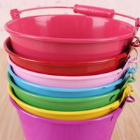 Wholesale Mini Buckets Purple - Chilren water bucket toy beach pail toldders sand paly water fun mini pail wholesale Top quality