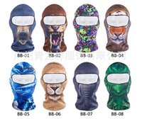 Wholesale Outdoor Exercise Bikes - Free shipping Wholesale Outdoor cycling gear printing mask Dust storm exercise bike masks motorcycle masked head