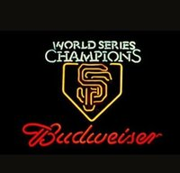 Wholesale Giant Sign - Fashion Handcraft RARE World Series Champs San Francisco Giants Budweiser Real Glass Beer Bar Pub Display neon sign 24x24!!!Best Offer!