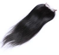 "ombre farben peruanischen haaren großhandel-Beste Qualität brasilianische peruanische malaysische indische kambodschanische gerade 4 ""x 4"" Schließung unverarbeitete reine brasilianische Haar Top Lace Verschlüsse"
