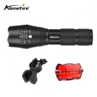 Wholesale tactical flashlight holder - AloneFire E17 CREE 3800 lumens cree xml t6 high power led flashlight bicycle light bike holder