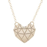 Wholesale Heart Shape For Valentines Wholesales - 10pcs lot Newest Arrival Love Origami Heart Shape Pendants Necklaces For Women Statement Necklace Valentines Day Gifts