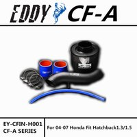 Wholesale Air Filter Honda Fit - Free Shipping For Fit Hatchback 1.3 1.5 2004-2007 High Performance CF-A Carbon Fiber Cold Air Intake System Air Filter