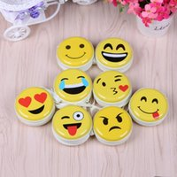 Wholesale Earphones Carry Case - Emoji coin purse Cute Portable Coin Purse Keyring Pouch Wallet Earphone Headphone Earbud Carrying Boxes Purse Case F20172628