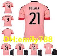 Wholesale pinks jerseys - 2015 16 Old Pink Juv Legion jerseys DYBALA Soccer Jerseys CHIELLINI POGBA MARCHISIO Pirlo Higuain Alex Sand Coppa Italia Football Shirts