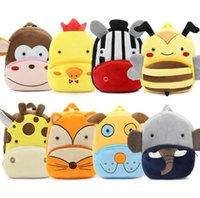Wholesale Bag Zoo Pack - Zoo Series Cute Child Pack Funny Creative Cute Piggy Dinosaur Tiger Monkey Zebra Plush Shoulder Bag