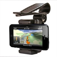 Wholesale Stand Dvr Digital - Wholesale- NOPNOG Mobile Phone Stand Bracket Sun Visor Mount Clip Car Phone Holder For GPS PDA MP4 Camera Digital DVR For iPhone Samsung