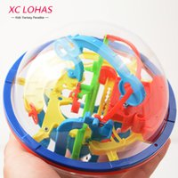 Wholesale Intellect Toys - 3D Magic Maze Ball 100 Levels Intellect Ball Rolling Ball Puzzle Game Brain Teaser Children Learning Educational Toys Orbit Game