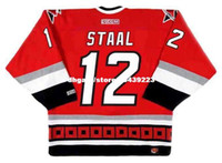 vendita all'ingrosso personalizzato Throwback Mens ERIC STAAL Carolina Hurricanes 2003 CCM Throwback Away Cheap Retro Hockey Jersey