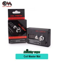 Wholesale Mini Volt Meter - Original Coil Master Ohm Meter Digital Voltage Voltmeter tester volt resistance for istick 30w   50w Kanger subtank plus mini Vape Atomizer