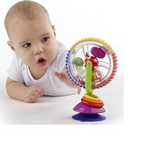 Wholesale Cartoon Windmill - Wholesale- 13-24 Months Baby cart chair sucker around the Ferriswheel rotating Windmill bell Baby rattles Vee_Mall Toys
