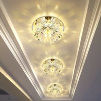 galerías de techo de luz al por mayor-Flush Mount Small LED Ceiling Light para Art Gallery Decoration Front Balcony lamp Corredores de luz de pórtico Luminaria