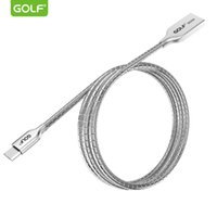 Wholesale Data Sync Charge Cable - GOLF 1m Silver Zinc Alloy Helix Tube USB Data Sync Charging Cable For All Smart Mobile Phone
