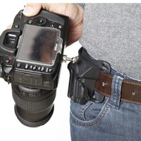 Wholesale Photo Load - Wholesale- Quick Fast Loading Camera Photo Holster Waist Belt Buckle Button Straps Accessories Camera Belt Button for DSLR Camera