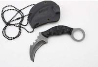 melhor canivete tático venda por atacado-MTech magia escorpião pata cortador Karambit dobrável faca de acampamento de sobrevivência tático faca de bolso caça ferramentas ao ar livre melhor presente Frete grátis
