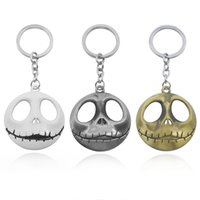 Hot Halloween Jack Devil Skull Pumpkin Keychain Pesadelo antes do Natal Jack Devil Skull Mask Homens Key Holder Jóias Chaveiro