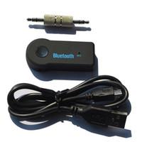 a2dp kulaklıklar toptan satış-Kablosuz Blutooth Streaming Araba A2DP Müzik Alıcısı Adaptörü Handsfree 3.0 Ses Stereo Hoparlör Araba Için 3.5mm Handsfree Kulaklık MP3
