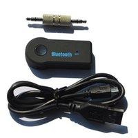blutooth mp3 al por mayor-Reproductor de audio inalámbrico Blutooth Streaming A2DP Adaptador de receptor de manos libres 3.0 Altavoz estéreo de audio 3.5mm manos libres para auriculares de coche MP3