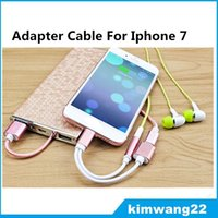 3.5 mm iphone al por mayor-2 en 1 coloridos 3,5 mm adaptador de auriculares para el iPhone 7 más 6 6s más cargador de auriculares Cable de apoyo ios 11