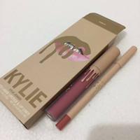 Wholesale Glitz Wholesaler - Kylie take me on vacation Liquid Matte Lipsticks june bug lip kit Lip Gloss lip liner Lipgloss Set glamour birthday suit bare glitz commando