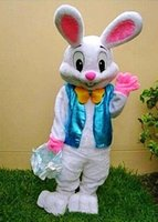Wholesale White Easter Bunny Costume - 2017 hot sale PROFESSIONAL EASTER BUNNY MASCOT COSTUME Bugs Rabbit Hare Adult Fancy Dress Cartoon Suit EMS free shipping