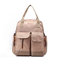 Wholesale Package Diaper - Wholesale-New Zipper Portable Multi-function Large Volume Waterproof Pregnant Mother Package Baby Diaper Bag Baby Care Mummy Bag WJ0171
