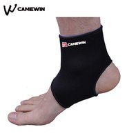 Wholesale Foot Sprains - Wholesale- 1 Piece Ankle Support Brace Product Foot Basketball Football Badminton Anti Sprained Ankles Warm Nursing Care Men and Women