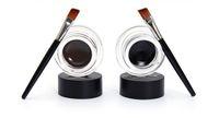 коричневый глазной гель оптовых-Wholesale-Hot 2 In 1 Waterproof Brown & Black Gel Eye Liner Set Kit  Tools 24Hours Long Wear Gel Eyeliner With Brush 1007# 2pcs\lot