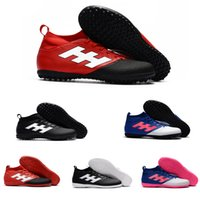 Wholesale Discount Indoor Soccer Shoes - 2017 Wholesale ACE 17+ Purecontrol Sports Soccer Shoes Mens Football Boots New Cheap Discount ACE 17.3 TF Soccer Shoes Red Free Shipping