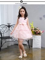 Wholesale Christmas Light Boat - 2017 summer sweet cake skirt, girl embroidered vest, dress lace, European butterfly knot skirt