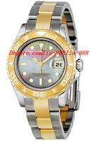 señoras relojes de pulsera mecánicos al por mayor-Relojes de lujo de calidad superior Dial negro de dos tonos Relojes de pulsera automáticos mecánicos del reloj del movimiento de 29MM de las señoras