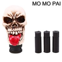 HOT Universal Skull Head Universal Car Auto Gear Shift Knob Palito Shifter Alavanca para VW NISSAN HONDA SEAT