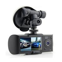 ingrosso registrazione della telecamera a ciclo-Dual Camera Car DVR R300 con GPS e 3D G-Sensor 2.7
