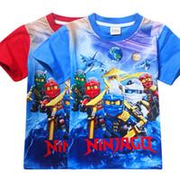 Wholesale Ninja Top - 2017 Summer Children's Clothing Baby Boys Girls T-shirt Ninja Ninjago Cartoon Cotton T-shirt Kids Tops Tees T Shirts 3-8y