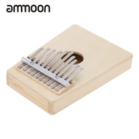 Wholesale Finger Instruments - Wholesale- 10 Key Mbira Finger Thumb Music Piano High Quality Hollow Pine Education Toy Musical Instrument for Music Lover and Beginner